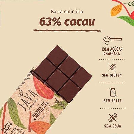 barra de chocolate 63% cacau MINEIRO - 1,010 KG