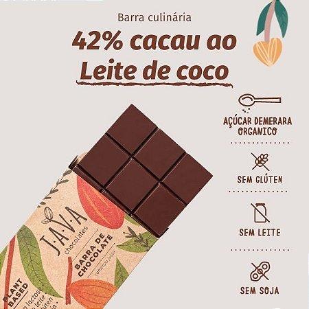barra de chocolate 42% cacau LEITE DE COCO - 1,010 KG