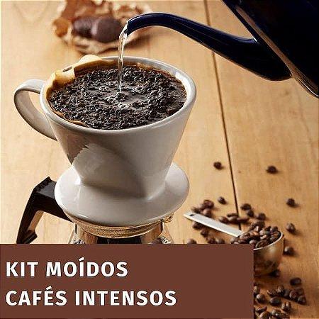 Kit 3 cafés intensos - Com Drip Coffee - Moído