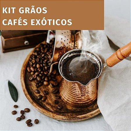 Kit 3 cafés exóticos - GRÃO