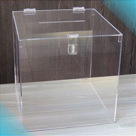 Urna em acrílico - modelo quadrado