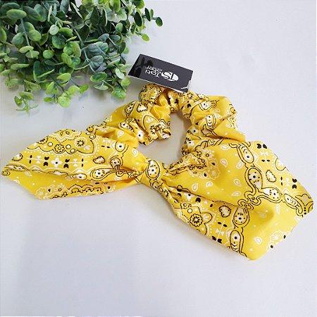 Scrunchie bandana amarela