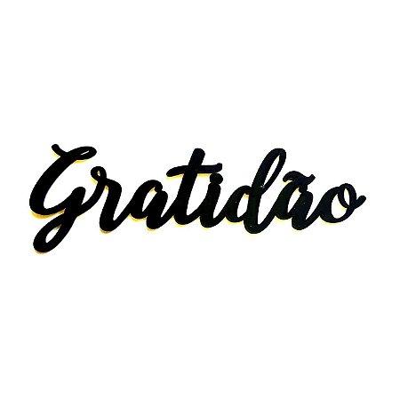 Quadro lettering acrílico Gratidão