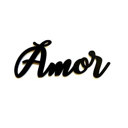 Quadro lettering acrílico Amor
