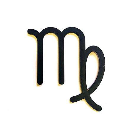 Quadro lettering acrílico Signo Virgem