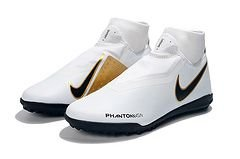 Chuteira Nike Phantom Vision Elite Society Cano Alto Dourada