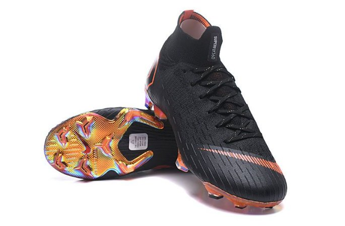 Chuteira Campo Nike Mercurial Superfly VI 360 Elite FG Preta Laranja (Cano  alto) 607922a5d9c2f