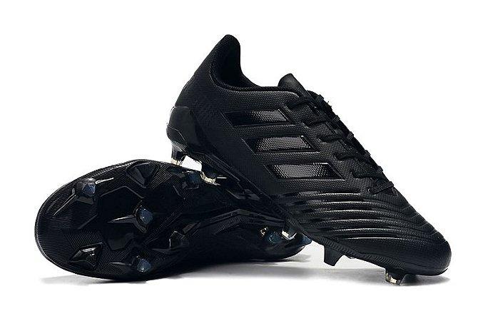 12c7ff959b813 Chuteira Campo Adidas Predator 18 FG Black - Loja Online JP ARTIGOS ...