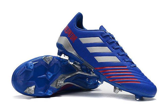 14b386a4c2700 Chuteira Campo Adidas Predator 19.4 FG Azul - Loja Online JP ARTIGOS ...