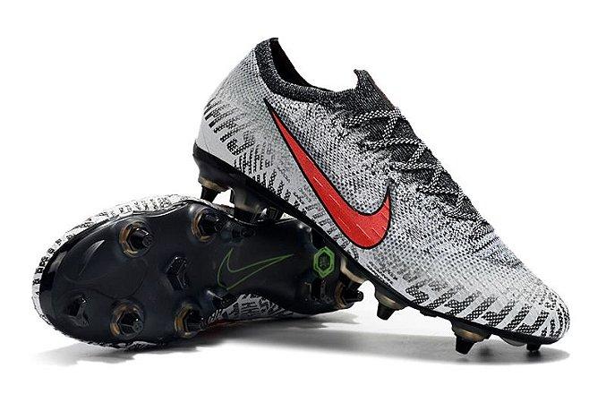 Chuteira Nike Mercurial Vapor XII Elite Neymar Campo Trava Mista Alumínio