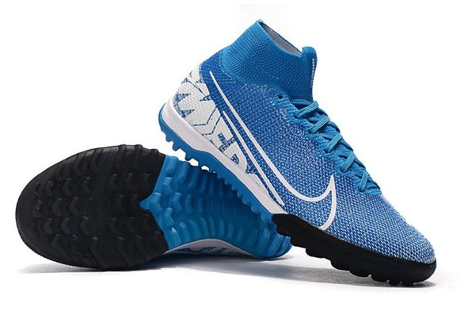Chuteira Nike Mercurial Superfly 7 Elite TF Society Azul
