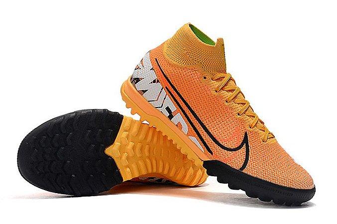Chuteira Nike Mercurial Superfly 7 Elite TF Society Laranja