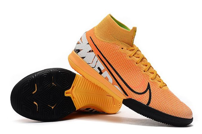 Chuteira Nike Mercurial Superfly 7 Elite TF Futsal Laranja