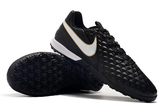 Chuteira Society Nike Tiempo Legend 8 Pro Preto/ Branco