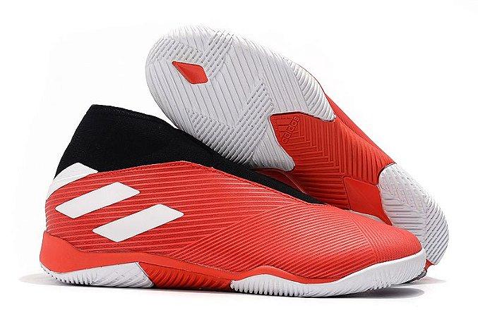 Chuteira Futsal Adidas Nemeziz 19.3 Laceless Vermelha