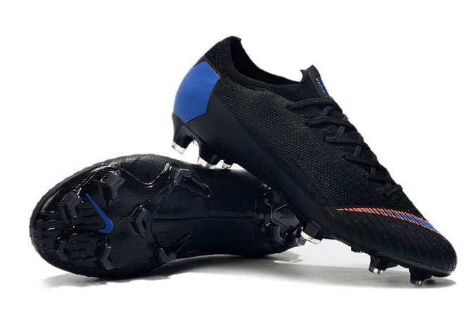 Chuteira Campo Nike Mercurial Vapor Fury VII Elite FG Preta e Azul