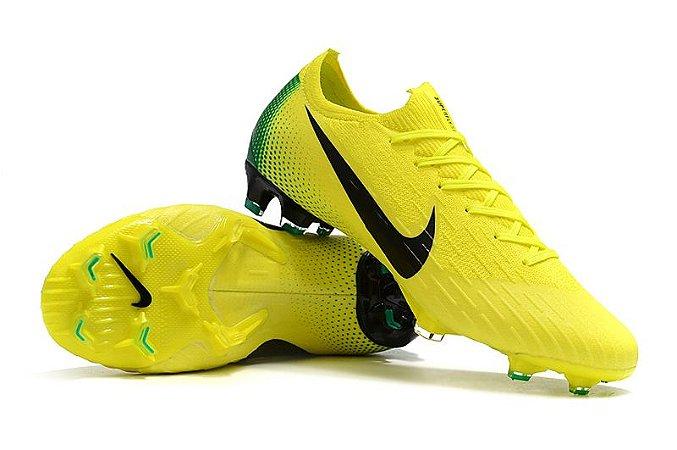 Chuteira Campo Nike Mercurial Superfly VI 360 Elite FG Amarela e Verde