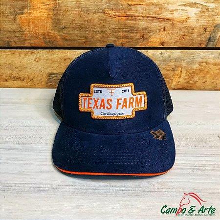 Boné Orange Blue - Texas Farm