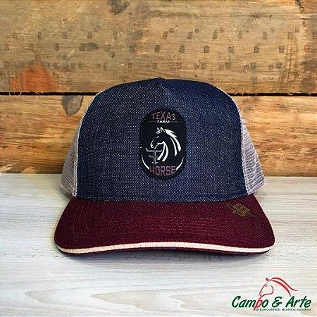 Boné Horse Jeans Bordo - Texas Farm