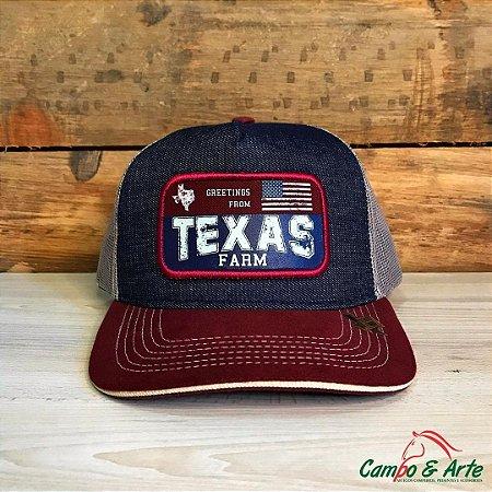 Boné Texas Jeans Bordo - Texas Farm