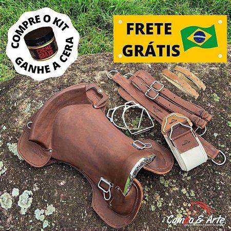 Kit Sela Freio de Ouro Chapeada Anatômica - Graxo s/ Gato