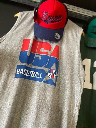 Kit Regata Basquete Seleção Americana Dream Team Michael Jordan + Boné Baseball Trucker Musgo