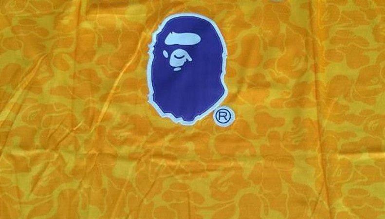 Camiseta Regata Esporte Basquete Los Angeles Kobe Bryant Bape Número 24 Amarela