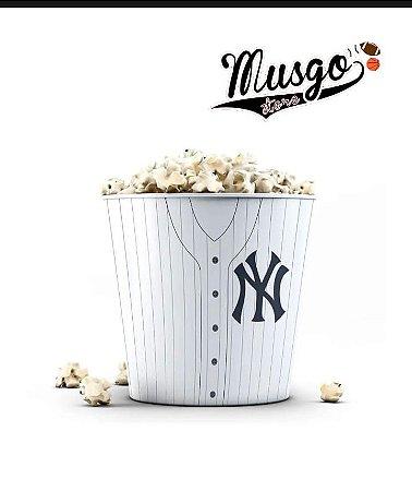 Balde de Pipoca Baseball New York Yankees Branco