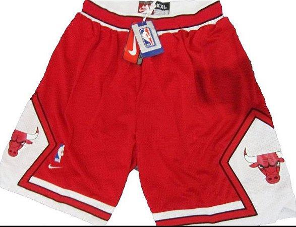 Bermuda Esportiva Basquete NBA Classics Chicago Bulls red
