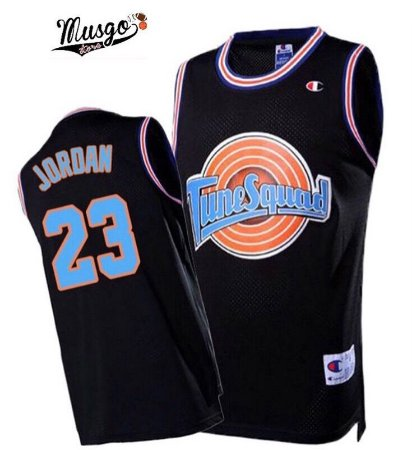 Camiseta Esportiva Regata Basquete Space Jam Tune Squad Black Michael Jordan Numero 23 Preta