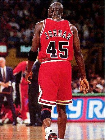Camiseta Esportiva Regata Basquete NBA Swingman Classics Chiago Bulls Michael Jordan Numero 45 Vermelha
