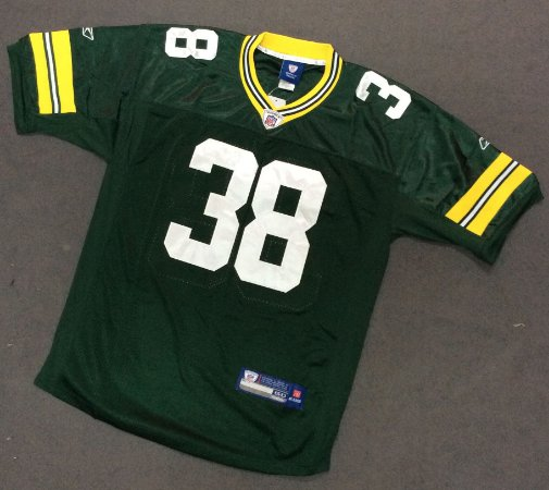 Camisa Esportiva Futebol Americano NFL Green Bay Packers Classic Tramon Williams Numero 38 Verde