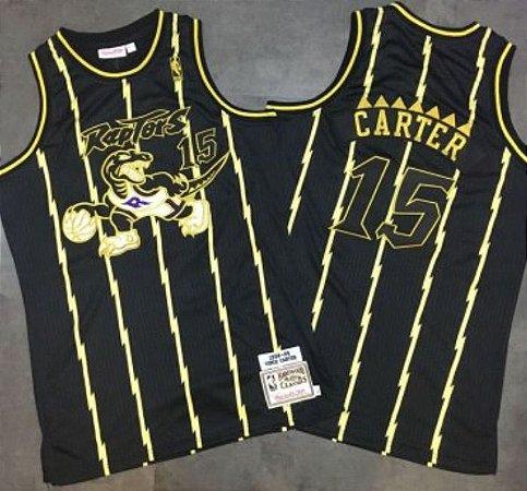 Camiseta Esportiva Regata Basquete NBA Swingman Toronto Raptors Gold Edition Vince Cárter #15