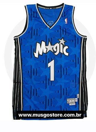 Camiseta Esportiva Regata Basquete NBA Orlando Magic T Mac Blue Numero 1