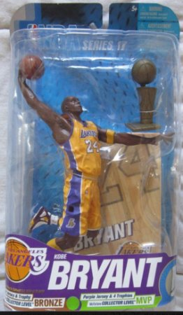 Boneco Miniatura Basquete NBA Los Angeles Lakers Kobe Bryant #24