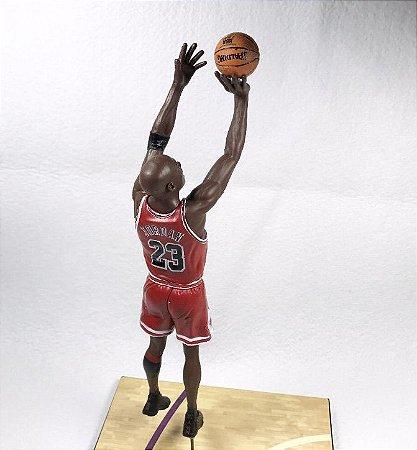 "Boneco Miniatura Basquete NBA Chicago Bulls Michael Jordan ""The Shot"" finais de 1998"