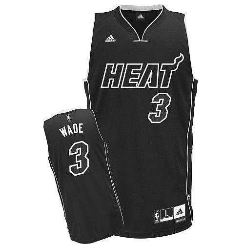 Camiseta Basquete  NBA Miami Heat Black Edition Wade #3