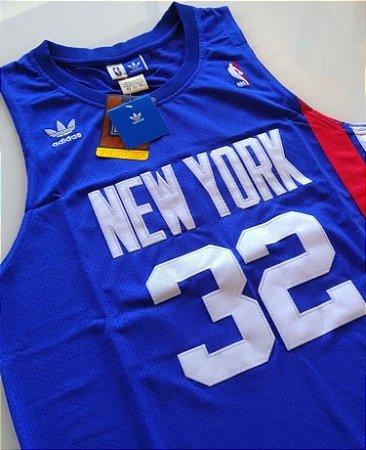 Camiseta Regata Esportiva Basquete NBA New York Nets Julius Irving Numero 32 Azul