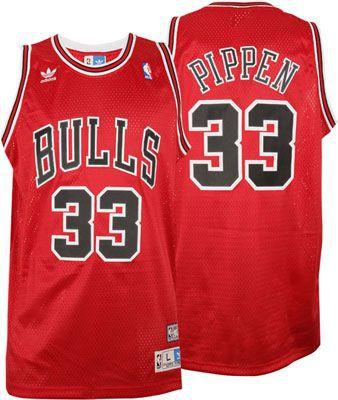 Camiseta Regata Esportiva Basquete NBA Chicago Bulls Scottie Pippen Numero 33 Vermelha