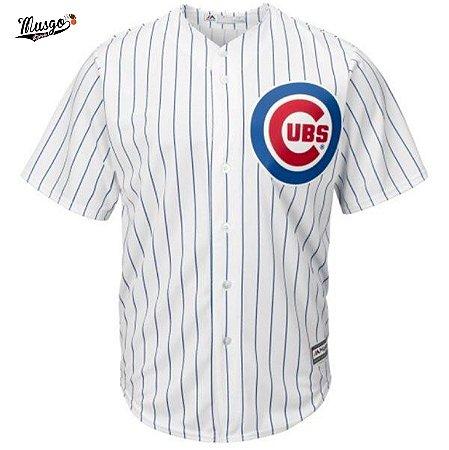 Camisa Esportiva Baseball MLB Chicago Cubs Kris Bryant Numero 17 Branca