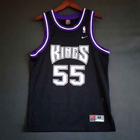 Camiseta Esportiva Regata Basquete NBA Classics Sacramento Kings Jason Williams Numero 55 Preta