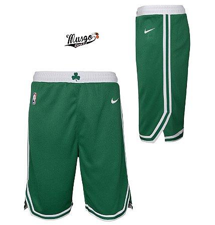 Short Basquete NBA Boston Celtics Green