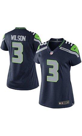 61a473405e Camisa Futebol Americano NFL Feminina Seattle SeaHawks Russel Wilson ...