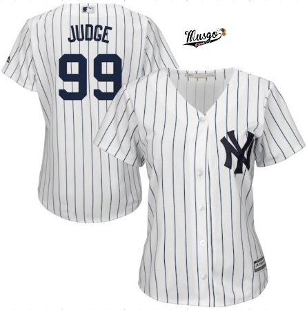 Camisa Baseball MLB New York Yankees Feminina Aron Judge #99
