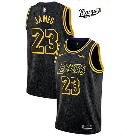 a634e5455 Camiseta Regata Basquete NBA Los Angeles Lakers Black Lebron James ...