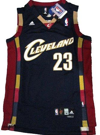 Camiseta Esportiva Regata Basquete NBA Cleveland Cavaliers 2007 Blue Lebron James #23