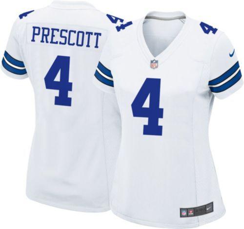 Camisa Futebol Americano NFL Feminina Dallas Cowboys Dak Prescott #4