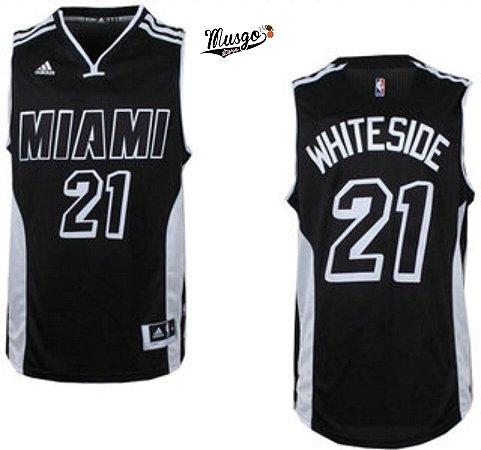 Camiseta Regata Basquete NBA Miami Heat Hassan Whiteside Black #21