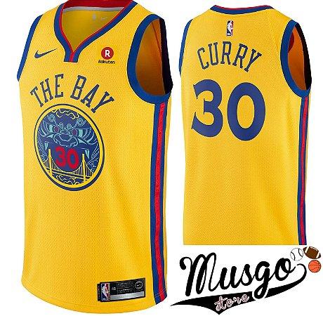 Camiseta Regata Basquete NBA Warriors The Bay Curry #30