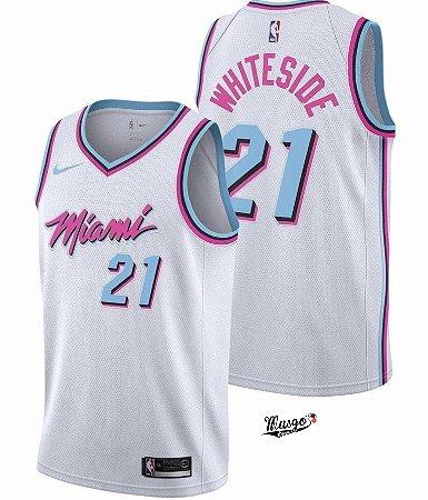 Camiseta Basquete NBA Miami Heat City Edtion Hassan WhiteSide #21